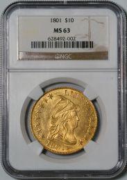 1801 Draped Bust $10 Eagle -- NGC MS63
