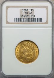 1808 Capped Bust Half Eagle -- NGC MS63