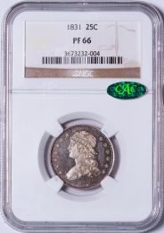1831 Capped Bust Quarter -- NGC PF66 CAC