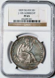 1839 Gobrecht Dollar -- NGC PF65
