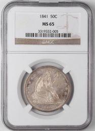 1841 Seated Liberty Half Dollar -- NGC MS65