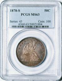 1878-S Seated Half Dollar -- PCGS MS63