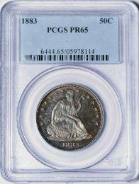 1883 Seated Liberty Half Dollar -- PCGS PR65