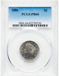 1886 Liberty Nickel -- PCGS PR66