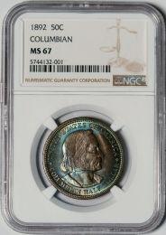 1892 Columbian Half Dollar -- NGC MS67