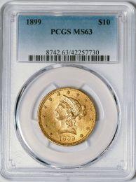 1899 $10 Liberty -- PCGS MS63