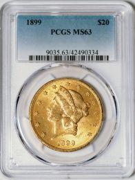 1899 $20 Liberty -- PCGS MS63