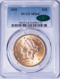 1899 $20 Liberty -- PCGS MS64 CAC