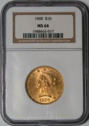 1900 $10 Liberty -- NGC MS64