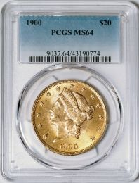 1900 $20 Liberty -- PCGS MS64