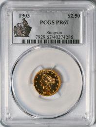 1903 $2.5 Liberty -- PCGS PR67