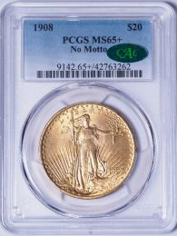 1908 NM $20 Saint -- PCGS MS65 Plus CAC