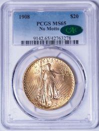 1908 NM $20 Saint -- PCGS MS65 CAC