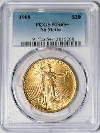 1908 NM $20 Saint -- PCGS MS65+