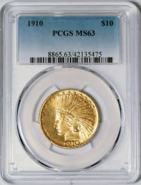 1910 $10 Indian -- PCGS MS63