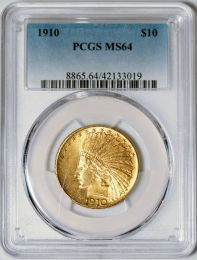 1910 $10 Indian -- PCGS MS64