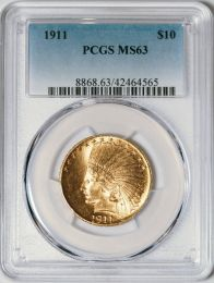 1911 $10 Indian -- PCGS MS63