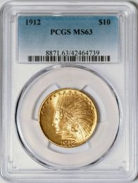 1912 $10 Indian -- PCGS MS63