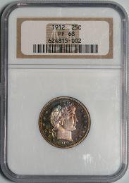 1912 Barber Quarter -- NGC PF68