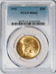 1915 $10 Indian -- PCGS MS63