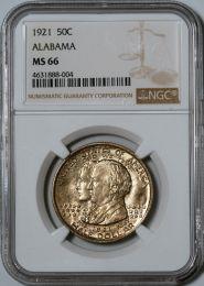1921 Alabama Half Dollar -- NGC MS66