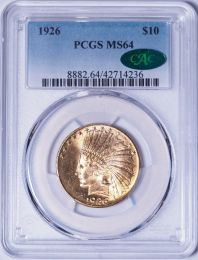 1926 $10 Indian -- PCGS MS64 CAC