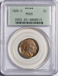 1926-S Buffalo Nickel -- PCGS MS65