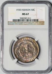 1935 Hudson Half Dollar -- NGC MS67