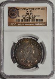1806 Bust Half Dollar, Pointed 6 Stem -- NGC MS64