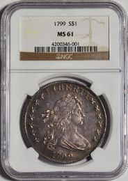 1799 Draped Bust Dollar -- NGC MS61