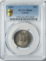 1893 Isabella Quarter -- PCGS MS66